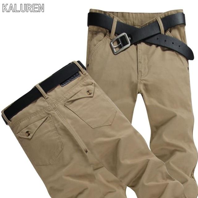 KALUREN plus size 8XL 52 mens hip hop pants military men cotton pant brand jeans casual trousers large big size