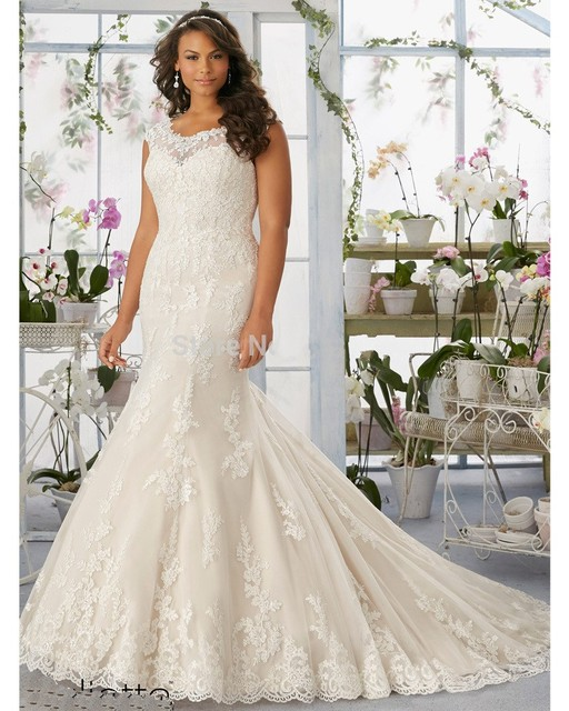 Vestidos de Novia Plus Size Wedding Dress 2016 Lace Elegant Princess ...