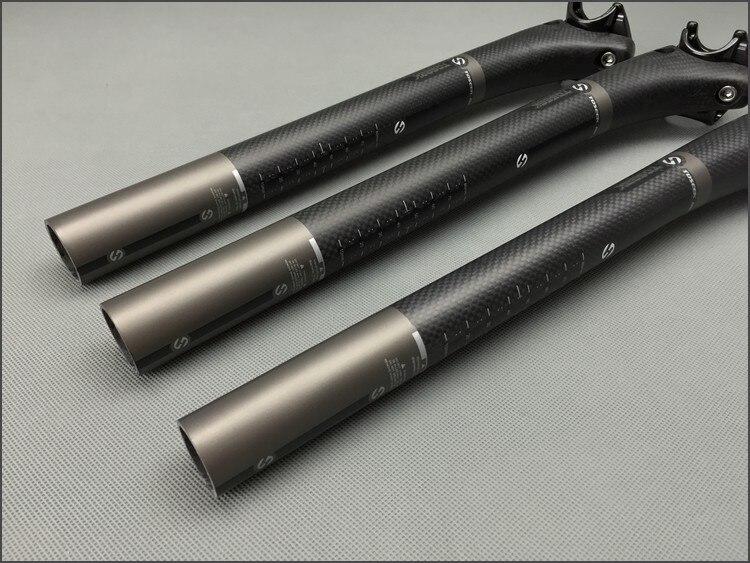 TOSEEK 3K Carbon Fiber Seatpost Mountain Bike Seat Post 27.2//30.8//31.6*350//400mm