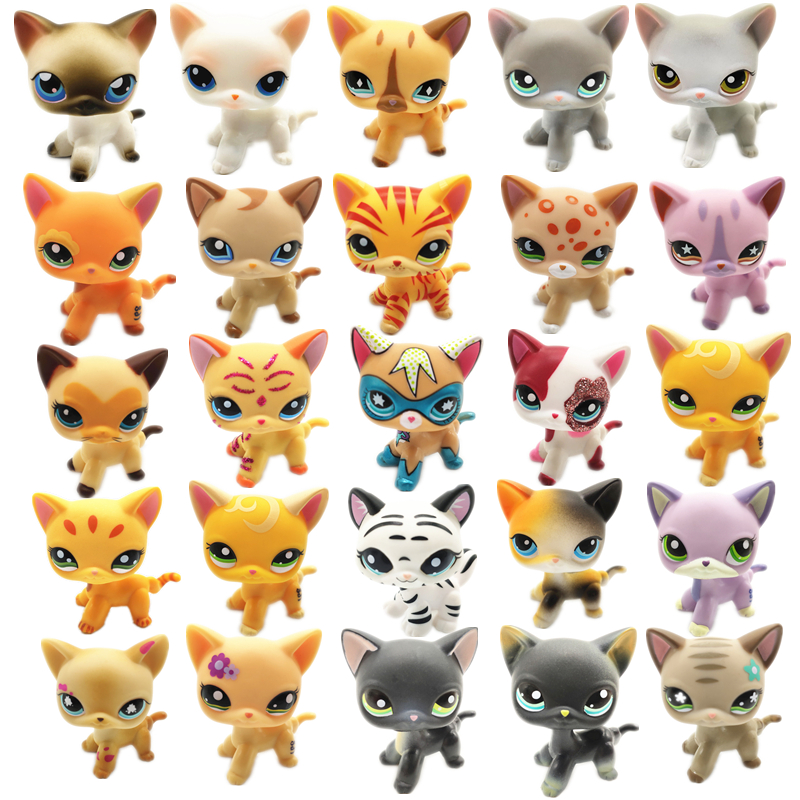 Best Rare Lps Pet Shop Toys Shorthair Cat Great Dane Collection Set Various Style Action Figures Standing Children Best Gift