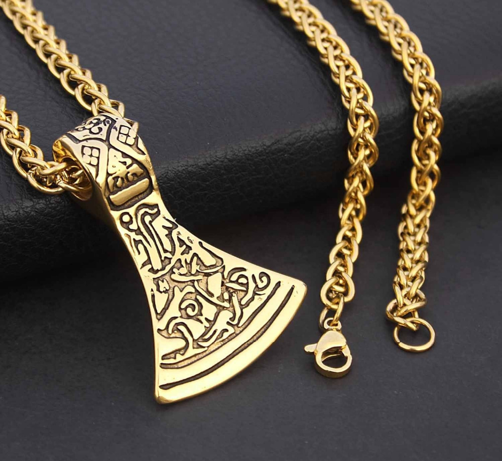 Vintage norse viking tribal axe blade pendant necklace on 24 chain vintage norse viking tribal axe blade pendant necklace on 24 chain sm203 in pendant necklaces from jewelry accessories on aliexpress alibaba group altavistaventures Gallery