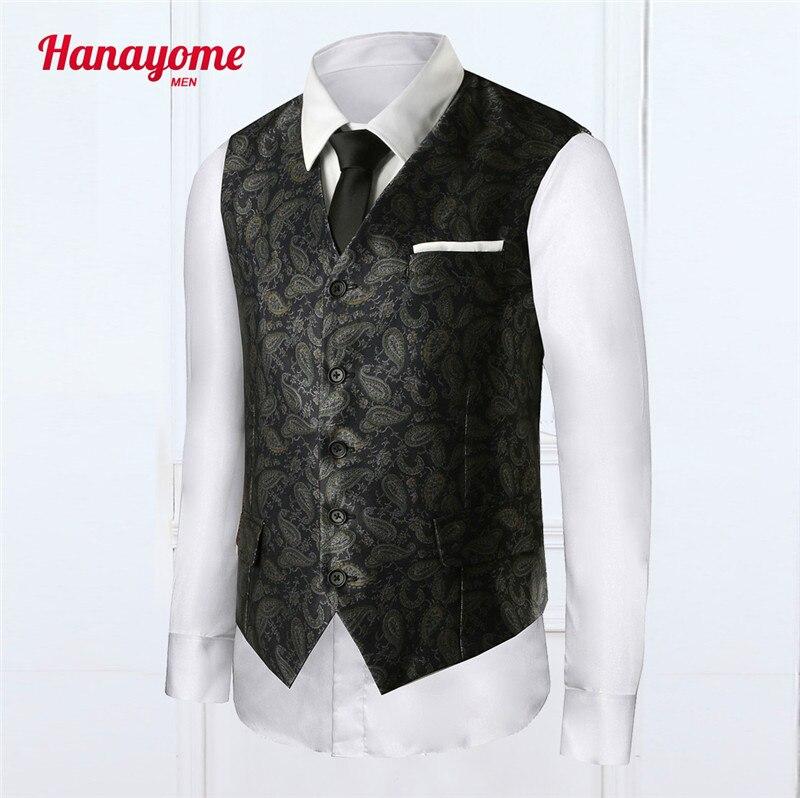 2017 New Europe Design Men Blazer Vest Slim Fit Suits Silk style Waistcoat Vests Fashion Floral Printed Colete Masculino 6 color