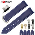 ZLIMSN Watchbands 22mm Replacement Men's Blue Diver Curved End Rubber Watch Band Strap Replacement OME122
