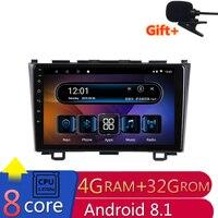 10,1 4G Оперативная память 8 ядра Android Автомобильная dvd навигационная система для Хонда сrv 2007 2008 2009 2010 2011 аудио для стерео Радио автомобильной г