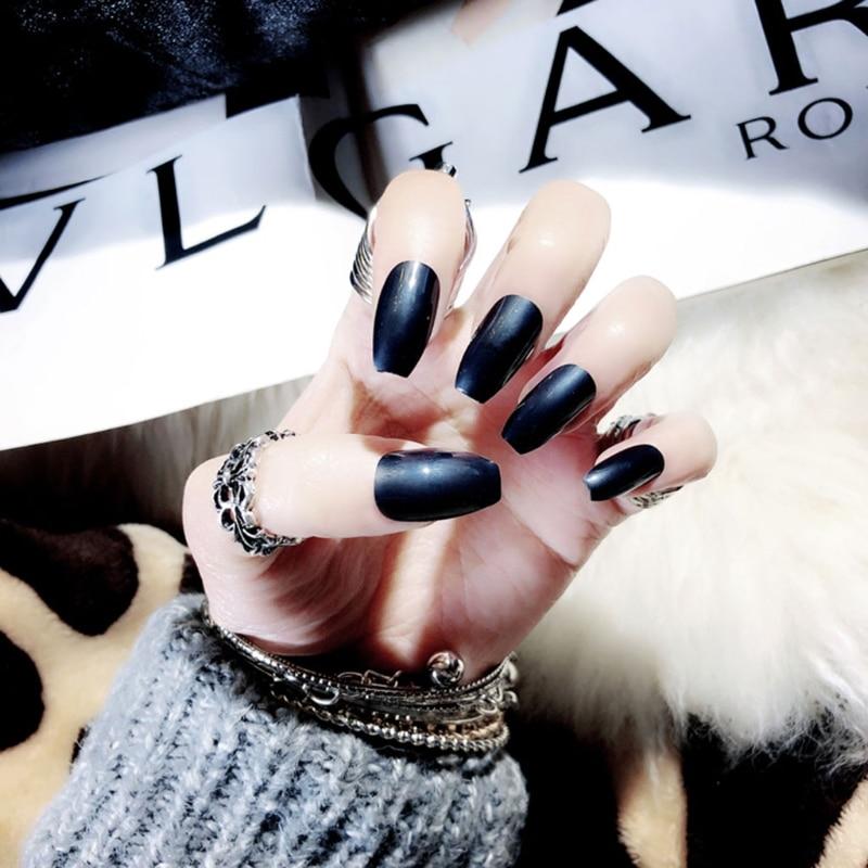 24pcs  Set Fake Nail Tip Artificial False Acrylic Design Makeup 13 Colors Fake French Full Nails Art Decor
