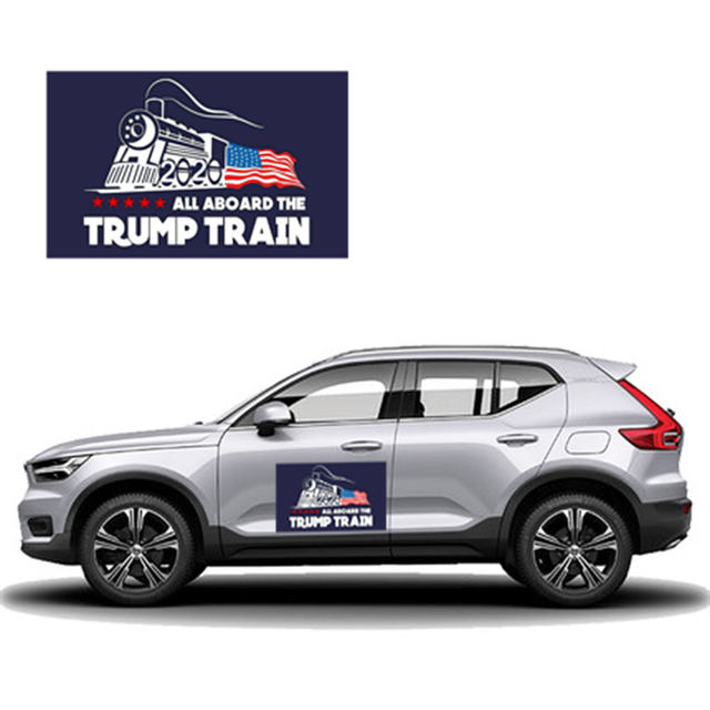 "10 pcs דונלד טראמפ לנשיא מחדש בחירות רכב מדבקה גדול שוב ארה""ב דגל כובע רכב פגוש מדבקה"