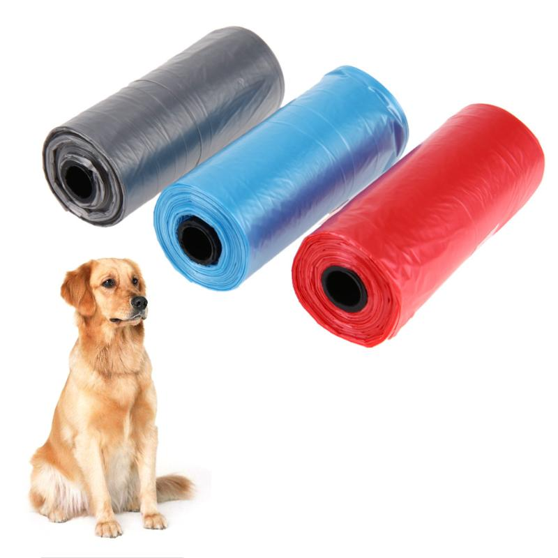 3 Rolls=45 <font><b>bags</b></font> Pet Dog Waste <font><b>Poop</b></font> <font><b>Bag</b></font> Dog Waste Pick up Clean <font><b>Baby</b></font> Diapers Traveling Wet garbage <font><b>Bag</b></font> Doggy <font><b>Bags</b></font> for Cat Dog image