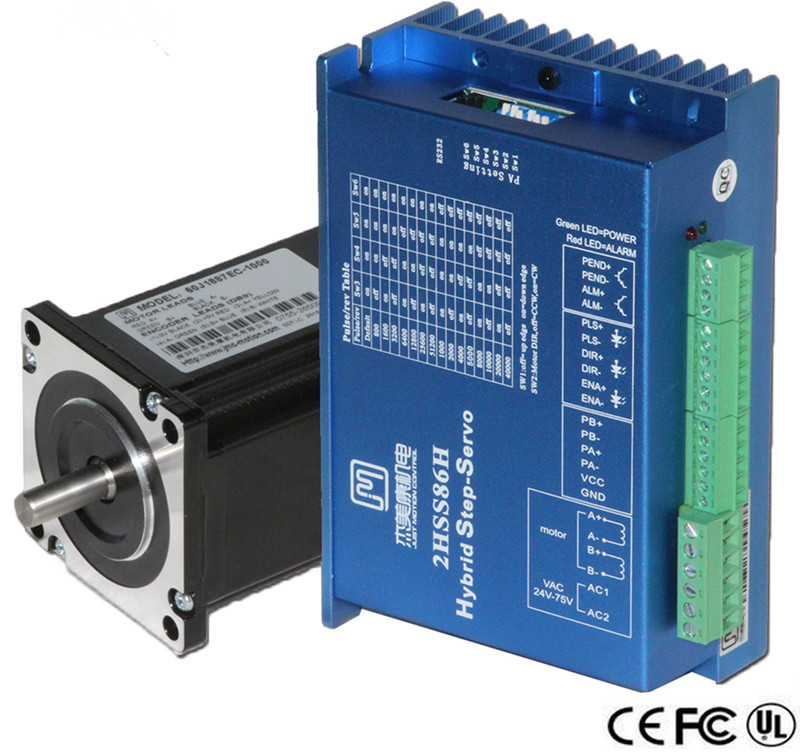 все цены на 2 phase NEMA24 3Nm 425ozf.in Closed loop Stepper servo motor driver kit JMC 60J1887EC-1000+2HSS86H онлайн