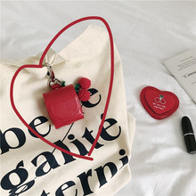 For Apple AirPods 1/2 Leather Luxury Cherry Pendant Airpod Case Bluetooth Wireless Earphone Air Pods Earpods with Hook