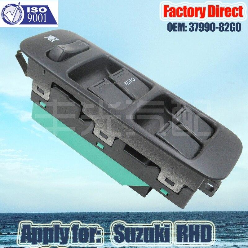 Factory Direct Auto Power Window Switch Apply For 37990-82G3 Suzuki Auto Window Switch RHD Right Driver Side Switch