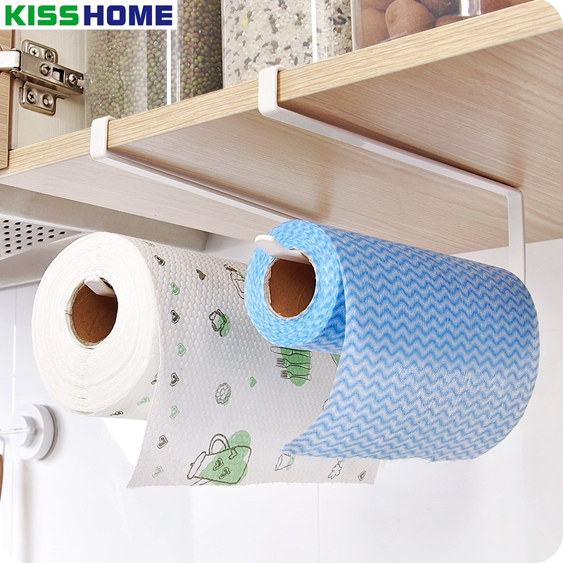 Kitchen Cabinet Hanging Shelf Toilet Roll Holder Paper Rack Toilet Paper Holder Tissue Holder Towel Rack Bathroom Accessories