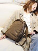 Vendange retro simple genuine leather backpack casual handmade cow leather school bag 2509