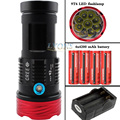 15000 lumens 9T6 LED flashlamp 9 x  XM-L T6 LED Waterproof Torch For Camping,Hiking Hunting 4x4200 battery+Charger
