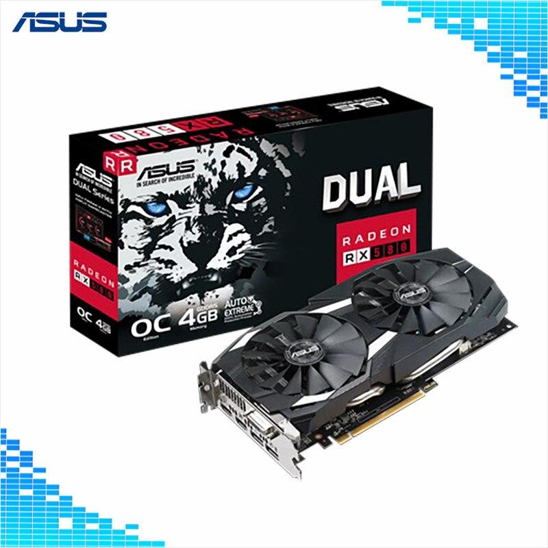 2019 Neuer Stil Asus Radeon Dual-rx580-o4g 4 Gb Dual-fan Gddr5 256-bit 1360/1380 Mhz Pci Express 3,0 16x Dp Hdmi Dvi Graphics Karten