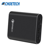 CHOETECH Power Bank 10400mAh QC2.0 Quick Charge Portable Power Bank Double USB Mobile Phone  External Battery For iphone Samsung