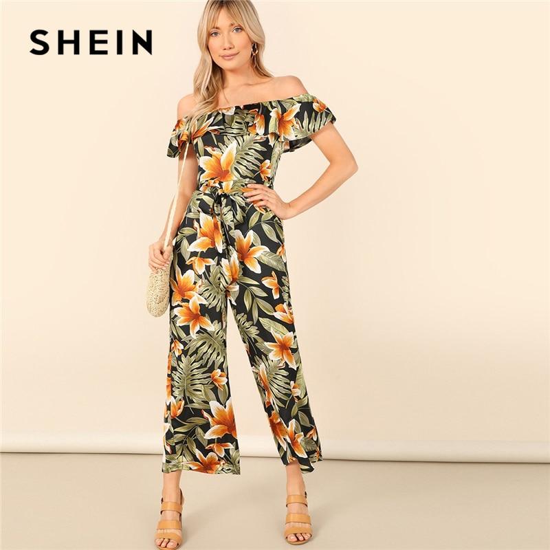 SHEIN Bohemian Floral Jumpsuit 07190102997