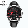 OCHSTIN Watches Men Fashion High Quality Leather Strap Chronograph Quartz Watches Men Brand Luxury 049 Watches Men Brand Name