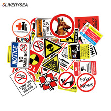 50pcs/lot Creative Funny Warning Slogan Stickers Danger Keep Out No Smoking for Car Motorcycle Luggage Suitcase Sticker Decal