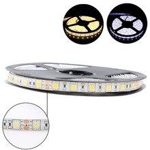 24 V LED şerit ışık RGB 5050 su geçirmez 5M 60Led/m esnek Neon 24 V Led ışık şeridi RGB diyot bant lamba şerit TV arkaplan ışığı