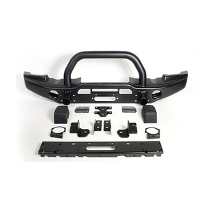 Bolaxin Cool Styling Rock Crawler Full Width Front Bumper +Full width Rear Bumper with 2