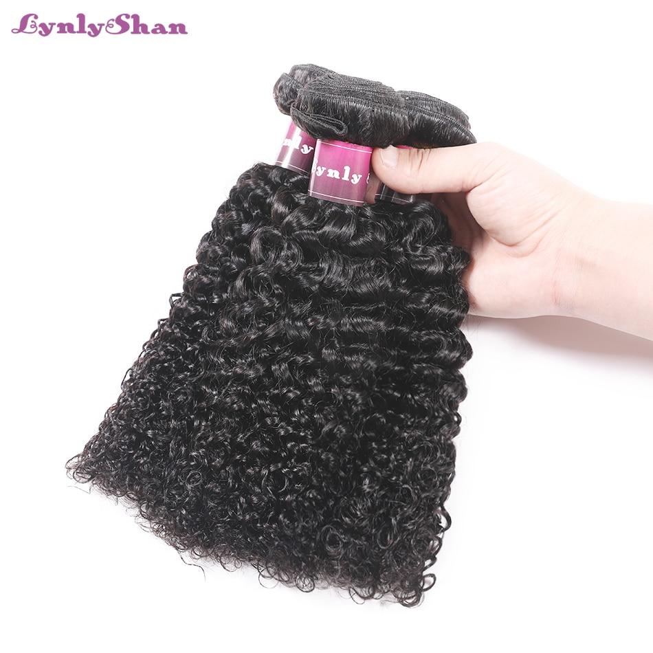 Human Hair Weaves Genteel Lynlyshan Kinky Curly Hair Bundles Malaysia Hair Bundles 100% Remy Human Hair Weave Extensions Natural Color 3 Pcs/lot