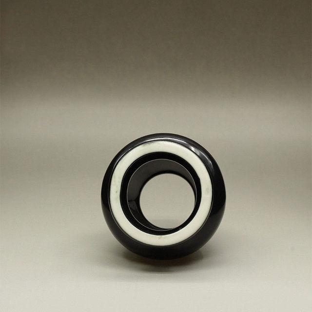 Black Ceramic Matcha Whisk Stand Kusenaoshi Chasen Shaper Holder Reshaper Japanese Matcha Holder Matcha Tea Powder