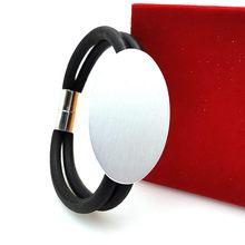 YD i YDBZ 2019 nowy urok bransoletka szara lina gumowa ręcznie łańcuch kobiety bransoletki biżuteria 6 stylów różowe złoto i srebro bransoletka do zegarka tanie tanio YD YDBZ Aluminium Ze stopu Aluminium ze stopu Aluminium Nastrój tracker Wszystko kompatybilny Geometryczne Tytan plated
