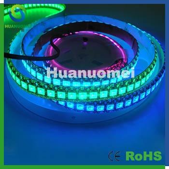 high definition led display strip IP65 waterproof led strip pixel light  2m/lot,144pixels/m, black PCB-in LED Strips from Lights & Lighting on