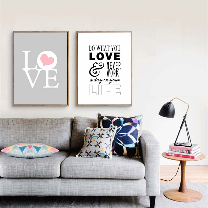 Nordic Minimalist Canvas Painting Print Love Quote Posters Wall Picture For Living Room Decoration Clic Gifts Lover In Calligraphy