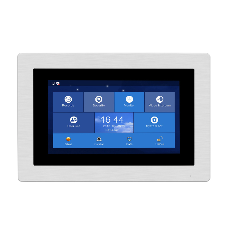 Free Shipping 720P IP Wifi 7 Touch Screen Monitor Work With the Same Brand Apartment IP