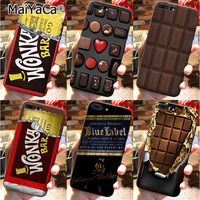 Funda de teléfono para iPhone 7, 8plus, 5 5s, SE, X, XS, XR, XSmax, Willy Wonka Bar, con billete dorado, Chocolate dulce, Bar12, mini 12PROMax