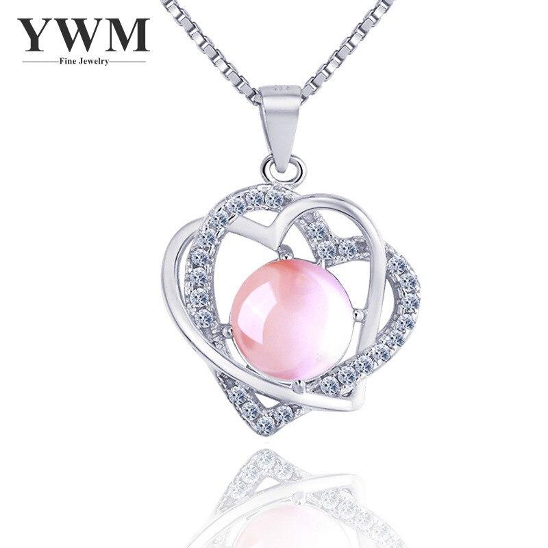 YWM 925 Sterling Gümüşü Təbii Çəhrayı Ürək formalı - Gözəl zərgərlik