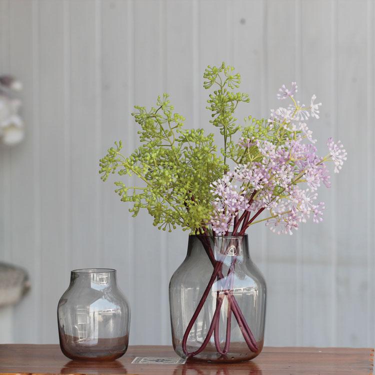 encimera florero de cristal moderno breve decoracin de la manera de la vendimia