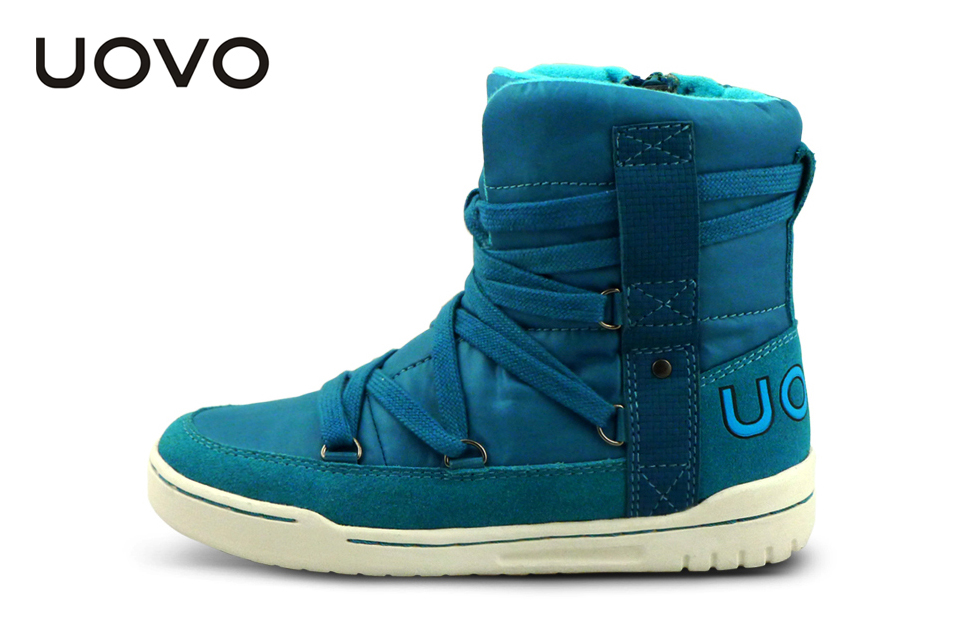 UOVO 2017 Winter Autumn Boys Boots Fashion Outdoor Children Shoes Warm and Comfortable Christmas Girls Snow Boots ...