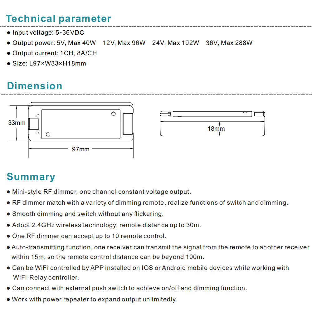 V1 LED Dimmer