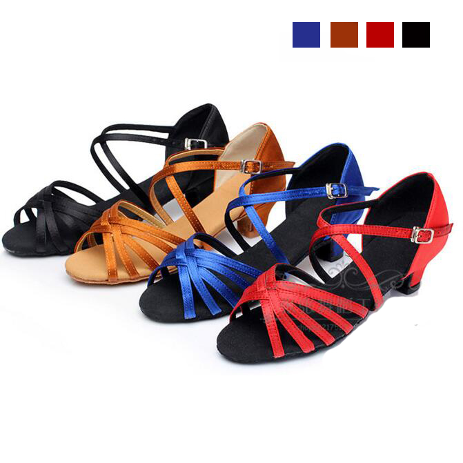 Ballroom Salsa Tango Latin Dance Shoes Low Heels Dancing For Kids Girls Children Women Ladies