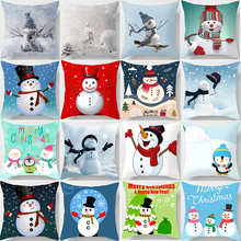Christmas snowmen pillow cases women men square Pillow case cute cartoon covers size 45*45cm