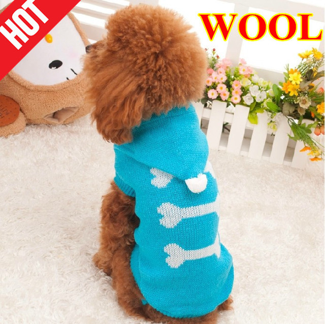 Clothing For Pet Wool Dog Sweater Knitting Pattern Coat Clothing For