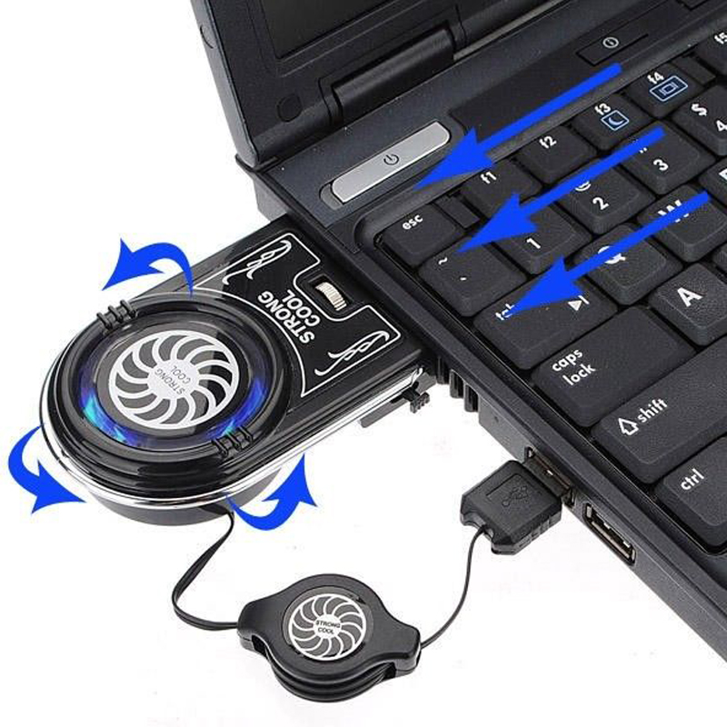 Mini Vacuum USB Cooler Air Extracting Cooling Pad Fan For Notebook Laptop PS4 PC