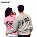 Новая Мода MS и Г-Н Буквы Любителей Пара С Длинным Рукавом Руно Рубашки Толстовка Sweatershirts Повседневная Майка Sudaderas Mujer 2017