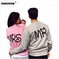 New Fashion MS and MR Letters Lovers Couple Long Sleeve Fleece Shirts Hoodie Sweatershirts Casual Tank Top Sudaderas Mujer 2017