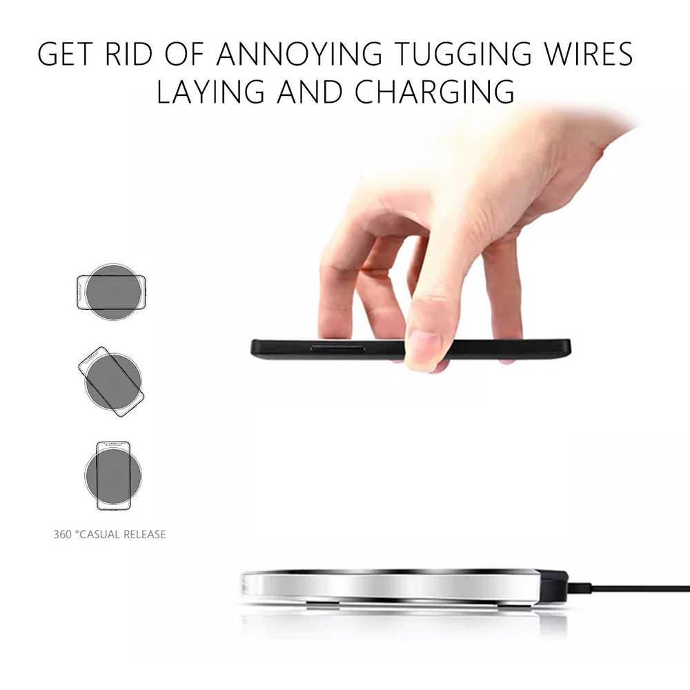 Ascromy C tipi kablosuz şarj alıcısı için LG G5 Nexus 5X6 P Nokia N1 Huawei P9 P10 USB C cep telefonu Qi şarj pedi yama