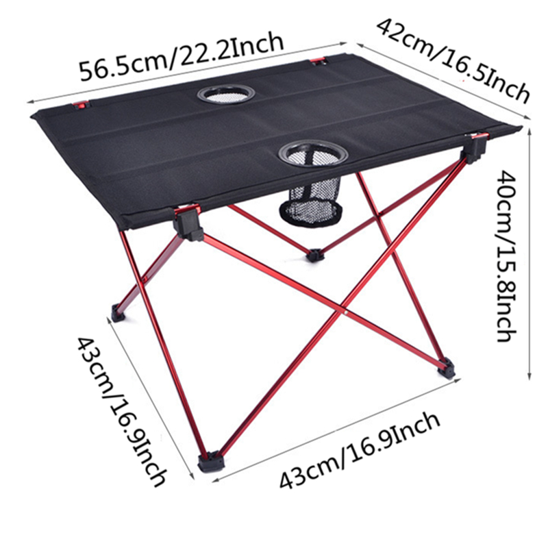 Image 2 - VILEAD Ultralight Aluminium Picnic Table 56*42*40cm Portable Foldable Durable BBQ Outdoor Camping Beach Waterfproof Stable Fold-in Camping Tables from Sports & Entertainment