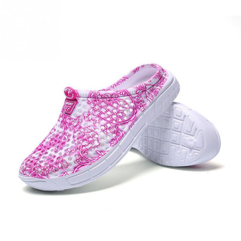 купить Summer women house shoes women jelly hollow home slippers flip flops female Breathable Mesh Beach shoes slippers slides недорого