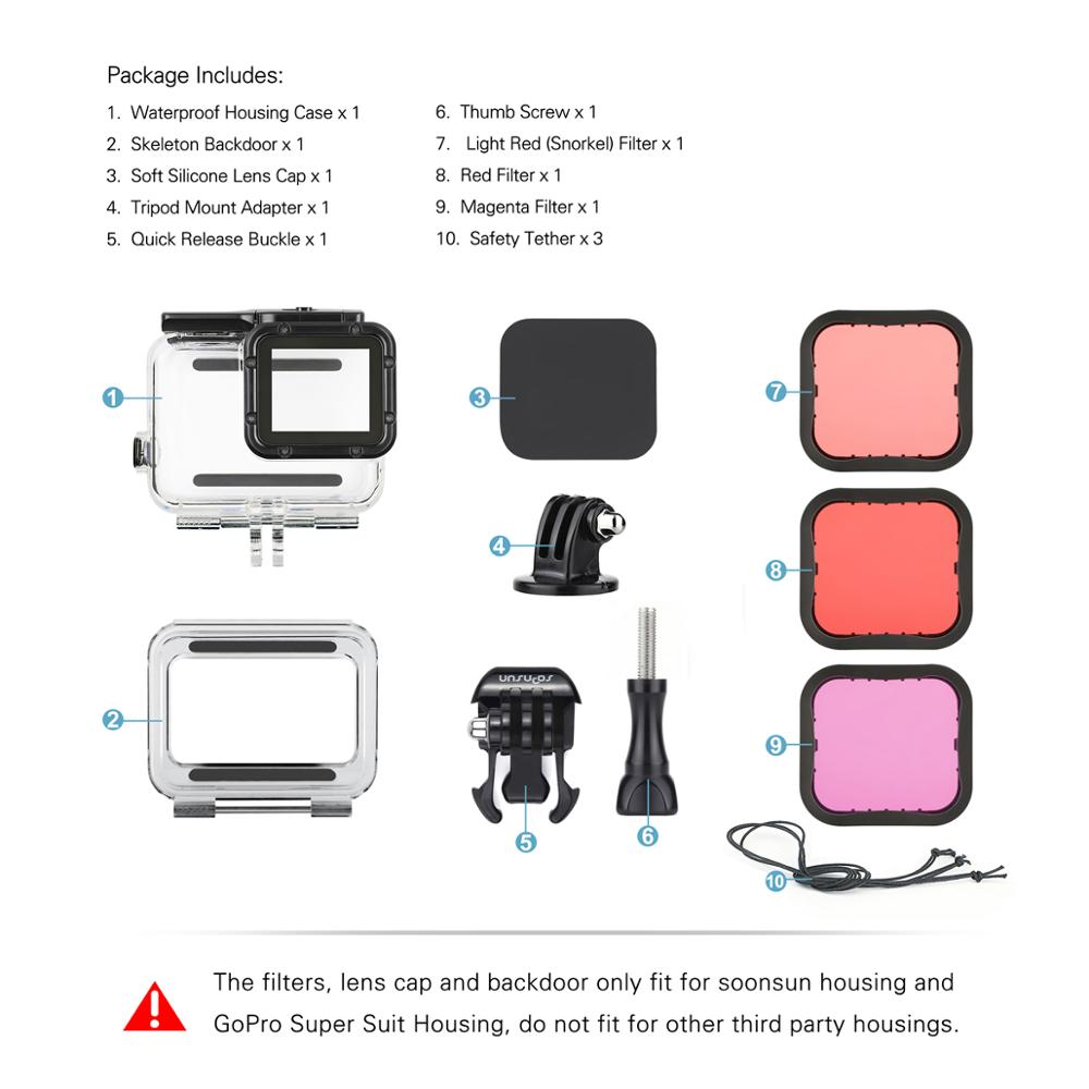 GPOK-079 GoPro Hero 7 Housing Case with Filter Set