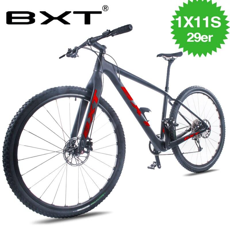Дешевые 29er MTB полный велосипед 1*11 скоростной горный велосипед 29*2,1 шиномонтажный велосипед бесплатная доставка мужской и wo Мужской горный в...