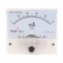 85C1-A 0-20mA 1mA 5mA 10mA 30mA 50mA 100mA 200mA 300mA 500mA DC Analógica Atual Medidor de Painel Amperímetro