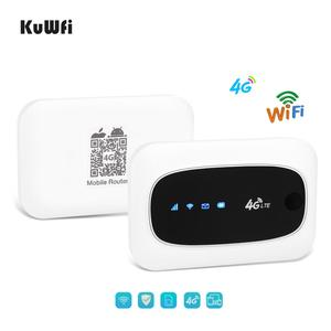 Image 4 - KuWFi 4G Wi Fi маршрутизатор 4G FDD/аппарат, который не привязан к оператору сотовой связи, маршрутизаторы LTE 150 Мбит/с карманный роутер Wifi мини Беспроводной маршрутизатор и Беспроводной модем с SIM/Слот для карты SD