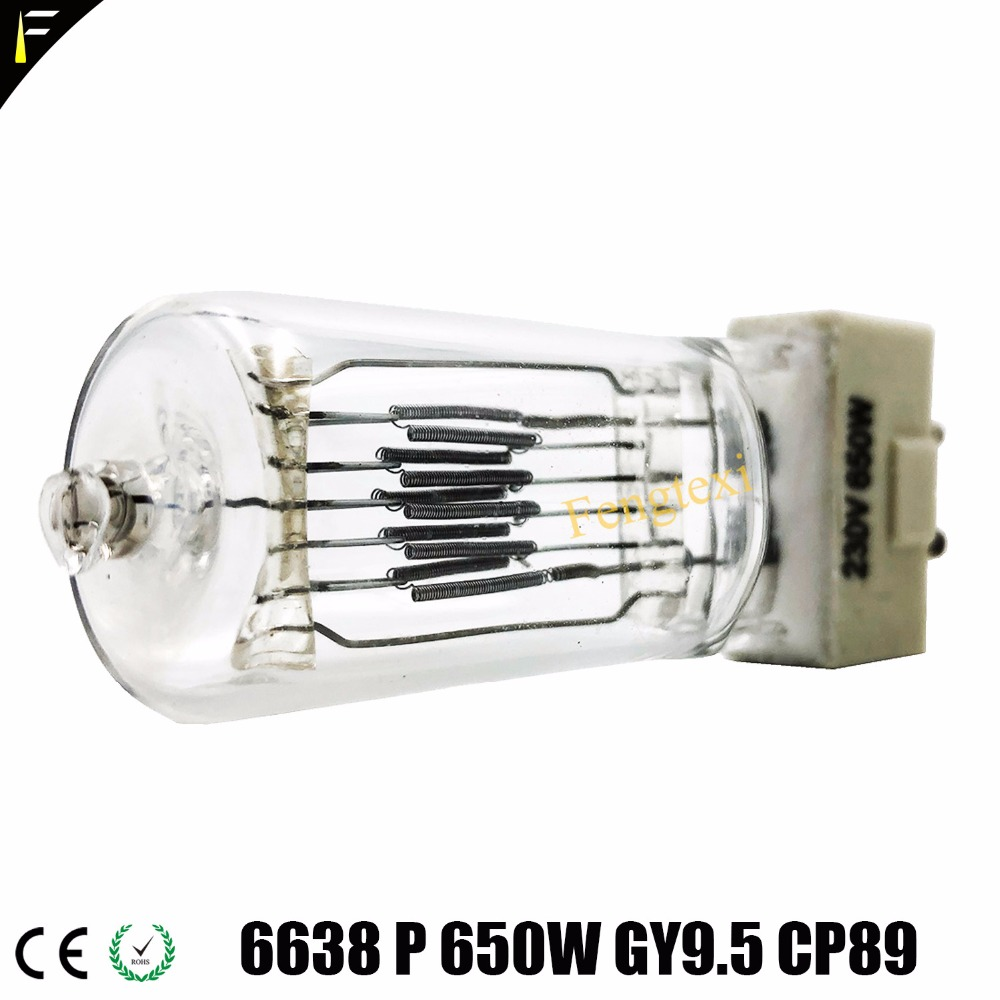 Halogen Studio Lamp Spot Light Bulb T26 GY9.5 650w Halogen Quartz Bulb Lamp For Digital Photography 3200K Video Lamp