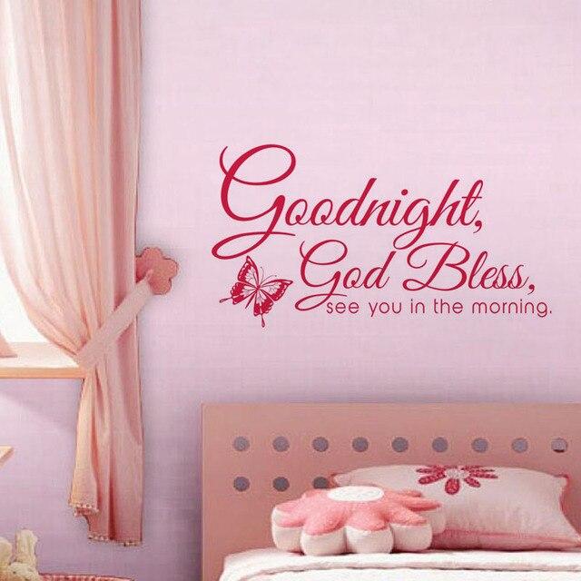 Buonanotte God Bless Wall Stickers Quotazioni Camera Da Letto ...